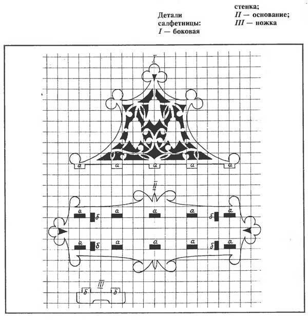 Чертеж салфетницы из фанеры своими руками чертежи 91