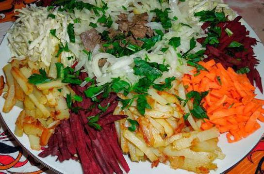 Татарский салат с говядиной рецепт с фото