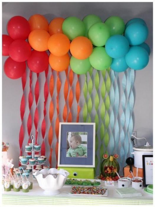 Украсить комнату шарами своими руками к дню рождения ребенка 154