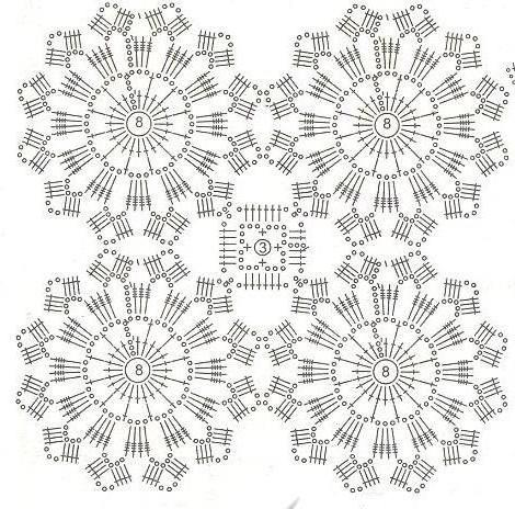 Вязание крючком схемы круглых мотивов крючком 61