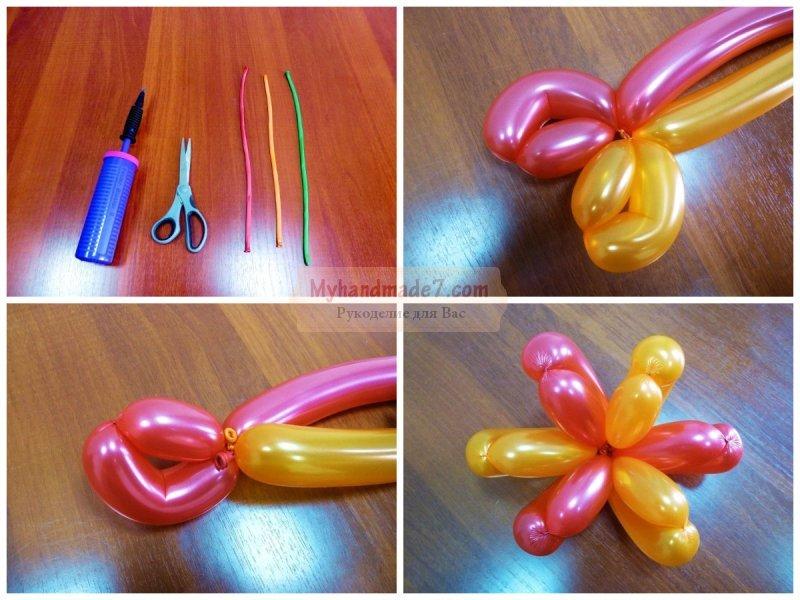 Цветы из шаров своими руками пошаговая инструкция 12