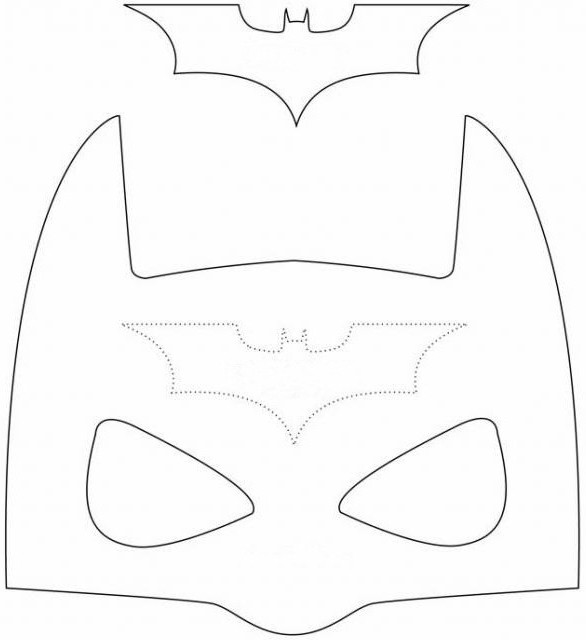 Маска бэтмена из фетра своими руками