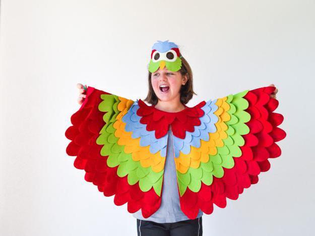 Как сделать новогодний костюм попугай