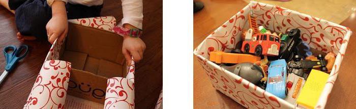 Как из коробок сделать ящик для игрушек своими руками 33