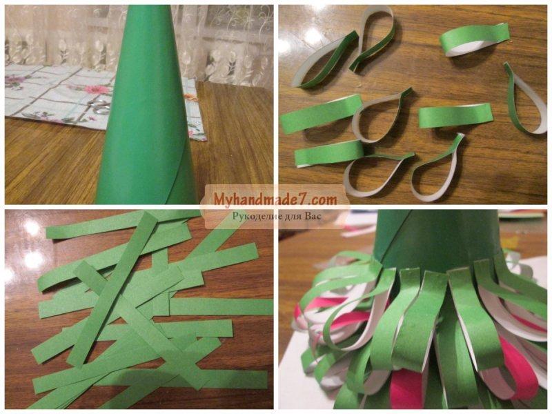 Елка сделанная своими руками из бумаги