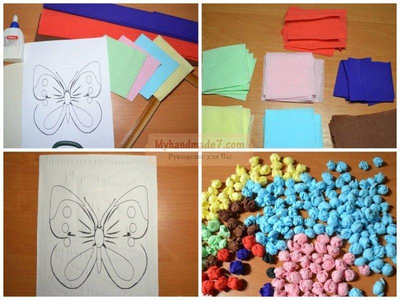 Салфетка из цветной бумаги своими руками