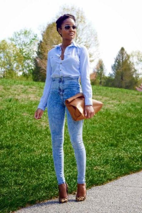 Що носити з джинсами з високою талією  Поради дівчатам cd58e60437869