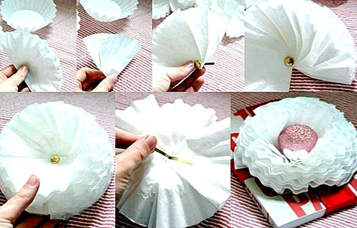 Как сделать помпон из крепированной бумаги своими руками 74