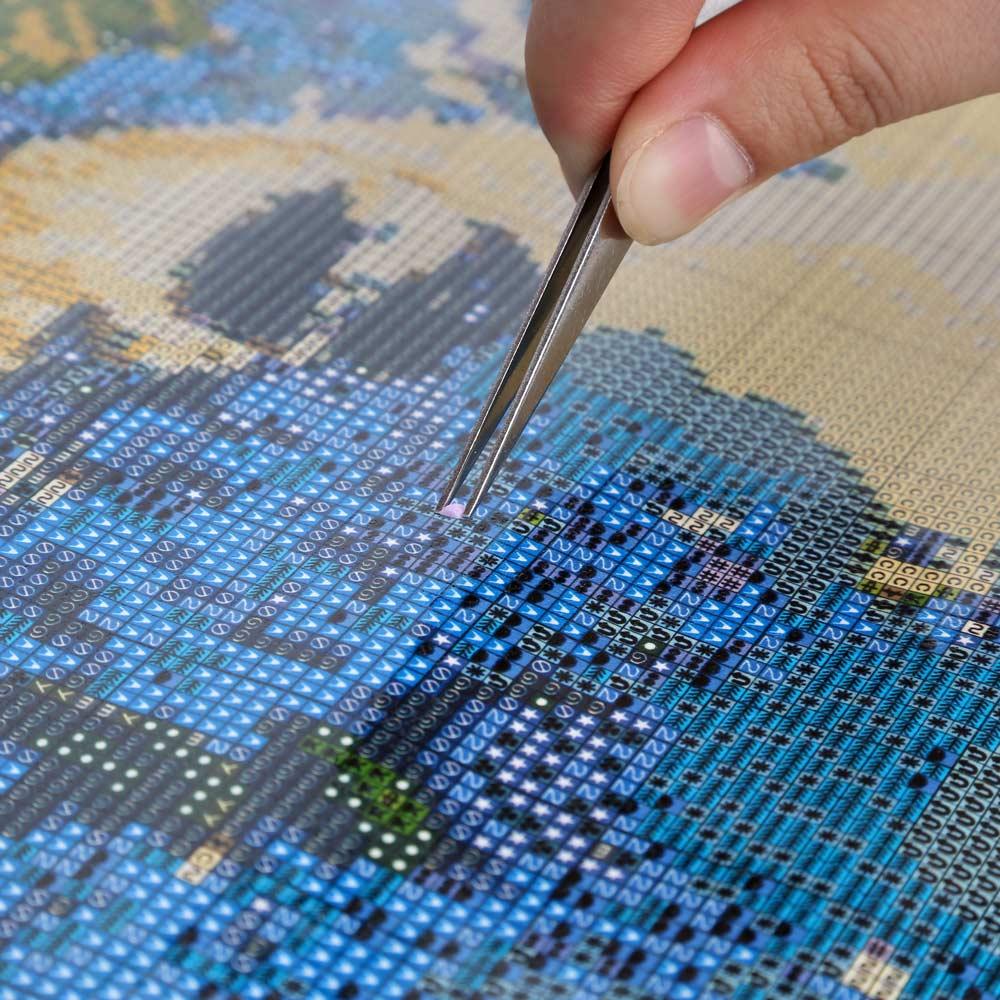 Как работать с алмазной вышивкой 1